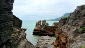 Pancake Rocks, New Zealand Royalty Free Stock Photos