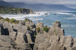 Pancake rocks, New Zealand Stock Image