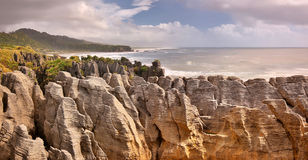 Pancake Rocks, New Zealand Royalty Free Stock Photography