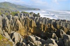 Pancake Rocks New Zealand. Royalty Free Stock Photos