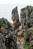 Pancake rocks, New Zealand Royalty Free Stock Photo