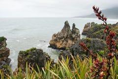 Pancake rocks, New Zealand Royalty Free Stock Image