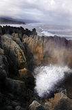 Pancake rocks - New Zealand Royalty Free Stock Photos