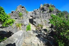 Pancake Rocks, Punakaiki, New Zealand stock photo