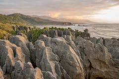 Pancake rocks, Punakaiki, NZ Royalty Free Stock Photography
