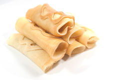 Pancake roll Royalty Free Stock Image