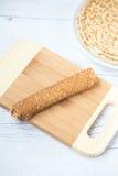 Pancake rotolato Immagine Stock