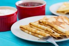 Pancake russi di tradizione fotografie stock libere da diritti