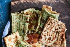 Pancake russi sul piatto Fotografia Stock Libera da Diritti
