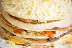 Pancake salati Immagini Stock