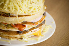 Pancake salati Fotografie Stock