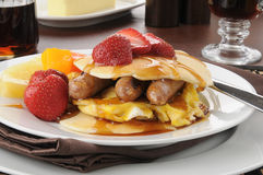 Pancake sandwich Stock Image