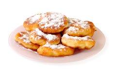 Pancake saporiti del formaggio Immagini Stock Libere da Diritti