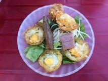 Pancake saporito della noce di cocco del khot di Banh mini Immagini Stock