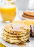 Pancake and sausage breakfast Stock Photos