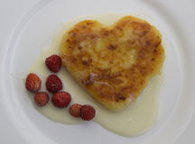 Pancake  shape of heart Royalty Free Stock Photography