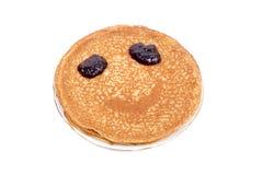 Pancake smile Stock Photography