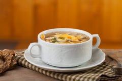 Pancake soup Royalty Free Stock Photo