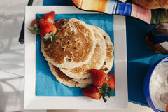 Pancake squisiti Fotografia Stock