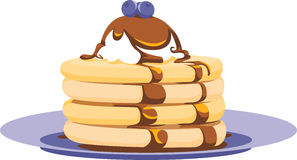 Pancake Stack Illustration Royalty Free Stock Image