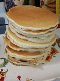 Pancake stack. Pancakes food breakfast Stock Images