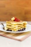 Pancake Stack with strawberry jam Stock Image