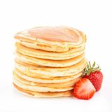 Pancake and strawberry Stock Images