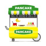 Pancake street food cart. Colorful vector image Royalty Free Stock Images