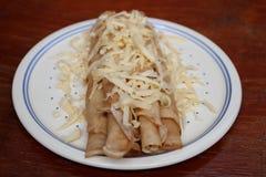 Pancake su un piatto Fotografie Stock