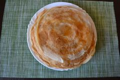 Pancake su un platey fotografia stock libera da diritti