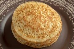 Pancake sul piatto Fotografia Stock Libera da Diritti