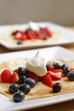 Pancake with summer fruits Stock Image