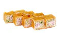 Pancake sushi rolls Stock Image