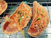Pancake tailandese, dessert tailandese Fotografia Stock