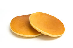 Pancake taken in natural light isolated. On white background stock photo