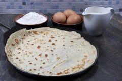 Pancake. A traditional Shrove Tuesday pancake Royalty Free Stock Images