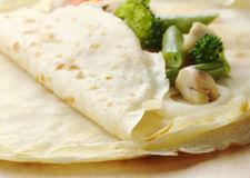 Pancake with Vegetables Stock Images