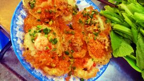 Pancake vietnamiti Fotografia Stock