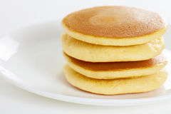 Pancake on white Royalty Free Stock Images