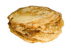 Pancakes. Isolated on white, clipping path included Stock Image