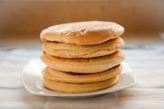 Pancakes. Sponge fresh pancakes for breakfast Stock Images