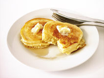 Pancakes 2 (paths included) Royalty Free Stock Photos