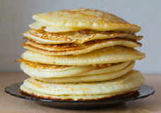 Pancakes. Lot of tasty pancakes on a plate Stock Photography