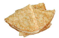 Pancakes. On a white background Royalty Free Stock Image