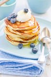 Pancakes. With Maple Syrup Stock Photography