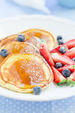 Pancakes. With Maple Syrup Royalty Free Stock Photography