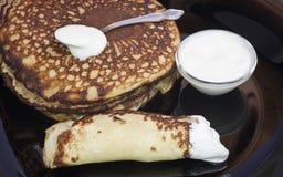 Pancakes . Royalty Free Stock Image