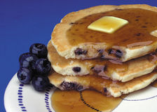 Pancakes. Blueberry pancakes Royalty Free Stock Images
