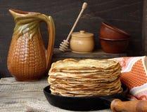 pancakes Fotografia de Stock Royalty Free
