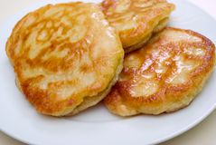 Pancakes. Taken in natural light on plate stock images